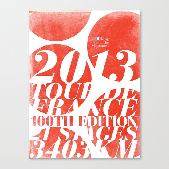 King of the Mountains: Tour de France 2013 Canvas Print