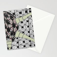 Powder particle Stationery Cards