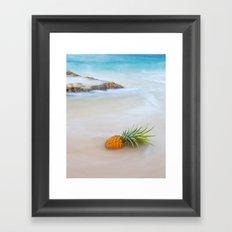 Island Style Pineapple  Framed Art Print