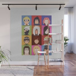Anime Characters Wall Mural