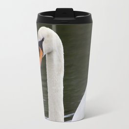 Swan in Water Travel Mug