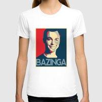 bazinga T-shirts featuring Bazinga Poster by JohnLucke