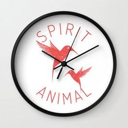 Bird Native Birds Songbird Hummingbird Gift Wall Clock