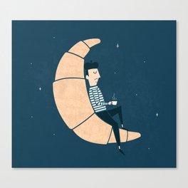 Ze Croissant Moon Canvas Print