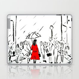The Girl In The Red Rain Coat (Part 1)  Fine Art Acrylic Painting Laptop & iPad Skin