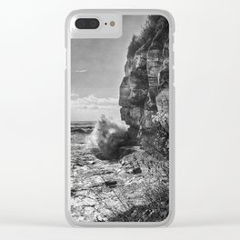Crashing Waves At Cliffs End Clear iPhone Case