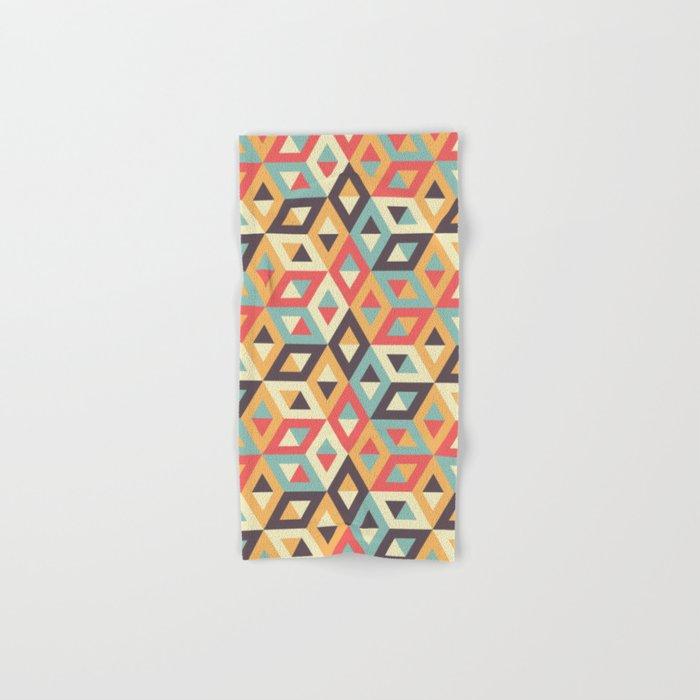Pastel Geometric Pattern Hand & Bath Towel