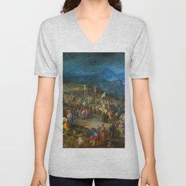 "Jan Brueghel The Elder ""Calvary"" Unisex V-Neck"