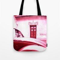 vw Tote Bags featuring VW Kaefer by Julia Aufschnaiter