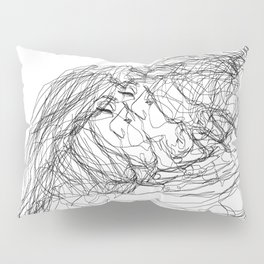 make-out? (B & W) Pillow Sham