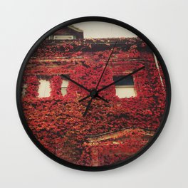 lingonberry red Wall Clock