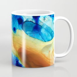 The Golden Gate - Abstract Art By Sharon Cummings Coffee Mug
