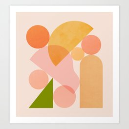 Abstraction_SHAPES_COLOR_Minimalism_002 Art Print