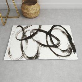 Minimal Abstract Ovals Rug