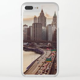 New York Highway Clear iPhone Case