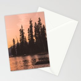 Forest Island at the Lake - Nature Photography Stationery Cards