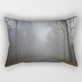 Foggy road Rectangular Pillow