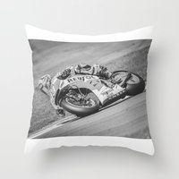 marc Throw Pillows featuring Marc Marquez by Alex Malyon