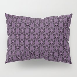 Halloween Damask Violet Pillow Sham