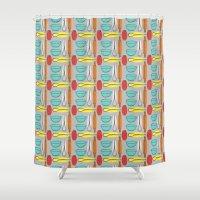 baking Shower Curtains featuring Baking Pattern by Britt Clifton
