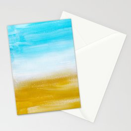 Aqua & Gold Abstract Stationery Cards