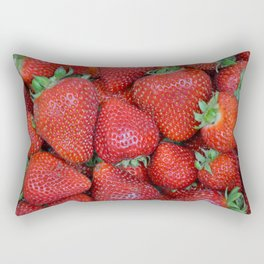 Fresh strawberries Rectangular Pillow