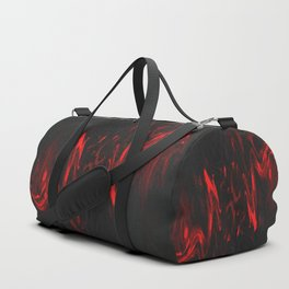 Red and Black Halloween Decor Fluid Abstract 47 Duffle Bag
