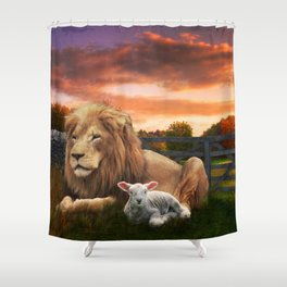All we need is love Shower Curtain