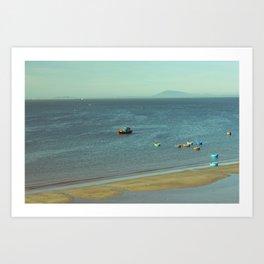 fishing village Art Print