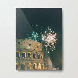 Fireworks at the Coloseo Metal Print