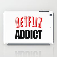 netflix iPad Cases featuring Netflix Addict by Poppo Inc.