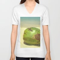 coconut wishes V-neck T-shirts featuring Coconut by Michael S.