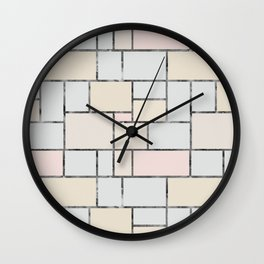 Tile pattern in soft pastel tones Wall Clock