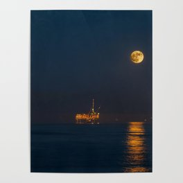 Moonset Poster