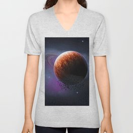 Planet In The Space Unisex V-Neck
