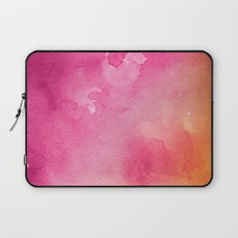 Original Painting In Bright Pink And Orange Laptop Sleeve