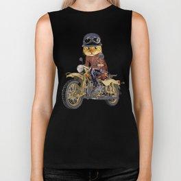 Cat riding motorcycle Biker Tank