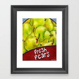 Fresh Pears Framed Art Print