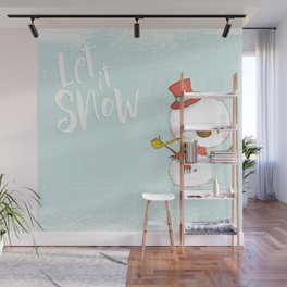Let it Snow 2 Wall Mural