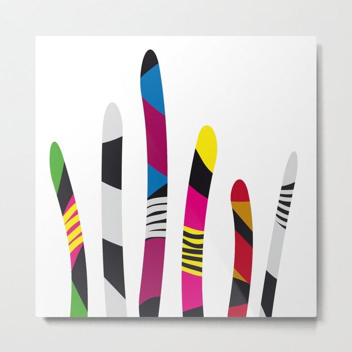 colored sticks 3 Metal Print