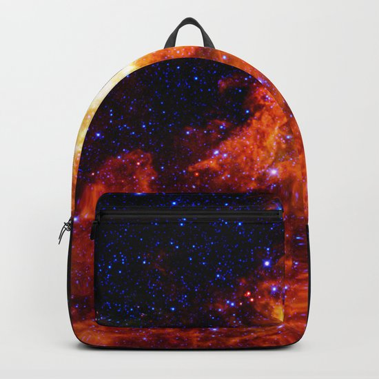 Fiery gAlAXy Indigo Stars Backpack