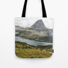 Overlooking Hidden Lake and BearHat Mountain Tote Bag