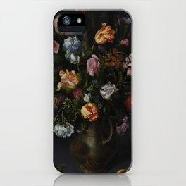 Jacob Vosmaer - A Vase with Flowers (1613) iPhone Case