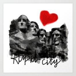 I love Rapid City Art Print