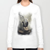 antlers Long Sleeve T-shirts featuring antlers by Lazar Alex