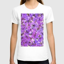 Red Violet Field Flowers T-shirt