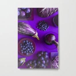 Purple - the colors of food Metal Print