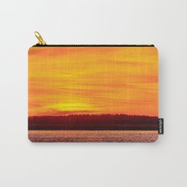 Fiery sunset on the Pike lake Carry-All Pouch