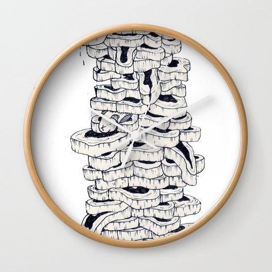 mass meat Wall Clock