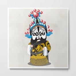 Beijing Opera Character ZhangFei Metal Print